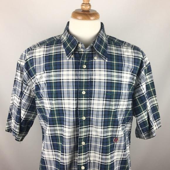 9cf64a63 Tommy Hilfiger Shirts | Vintage 90s Plaid Button Polo Xl | Poshmark